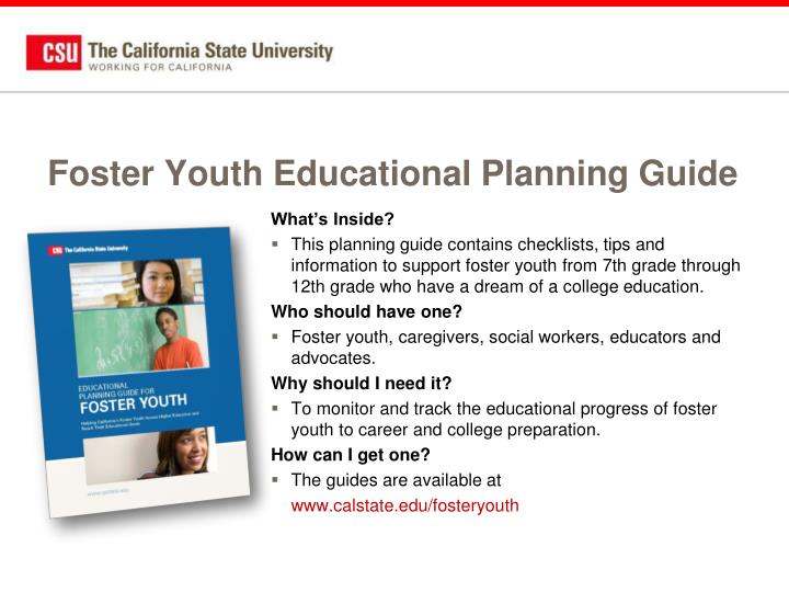 Foster Youth Educational Planning Guide