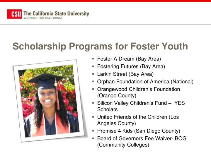 Scholarship Programs for Foster Youth