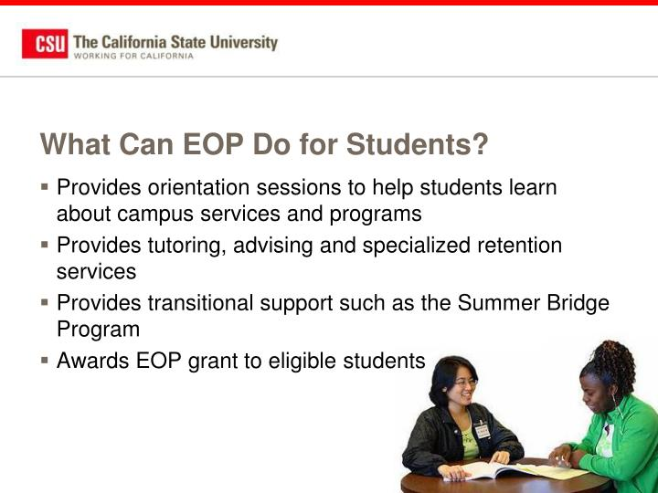 What Can EOP Do for Students?