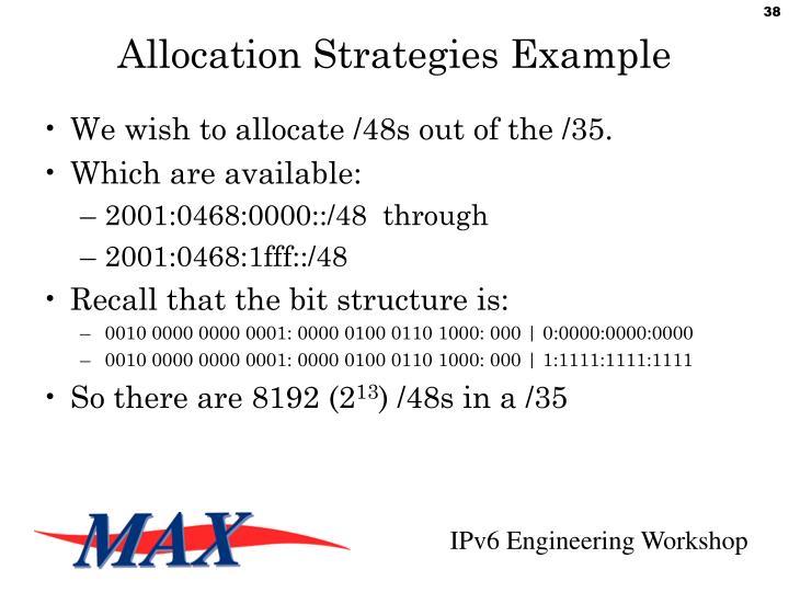 Allocation Strategies Example