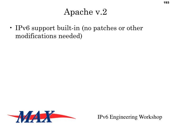 Apache v.2