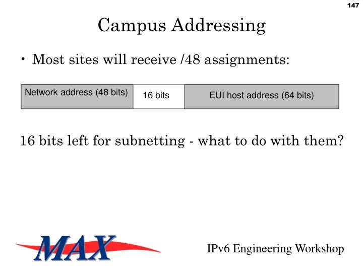Network address (48 bits)