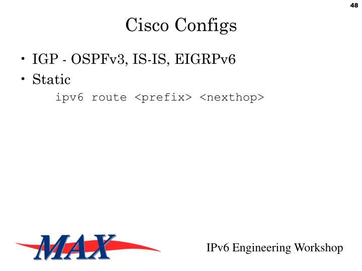 Cisco Configs