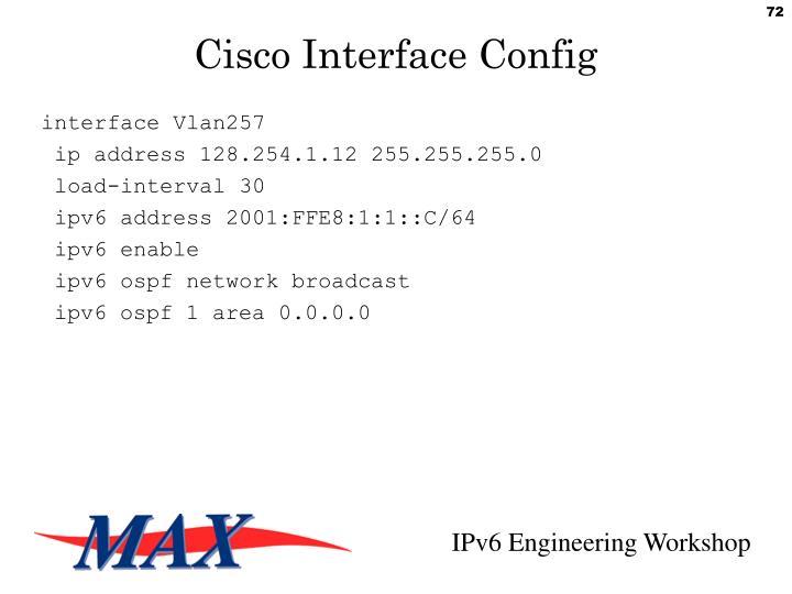 interface Vlan257