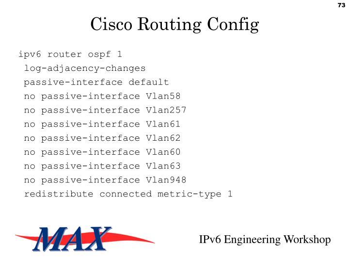 ipv6 router ospf 1