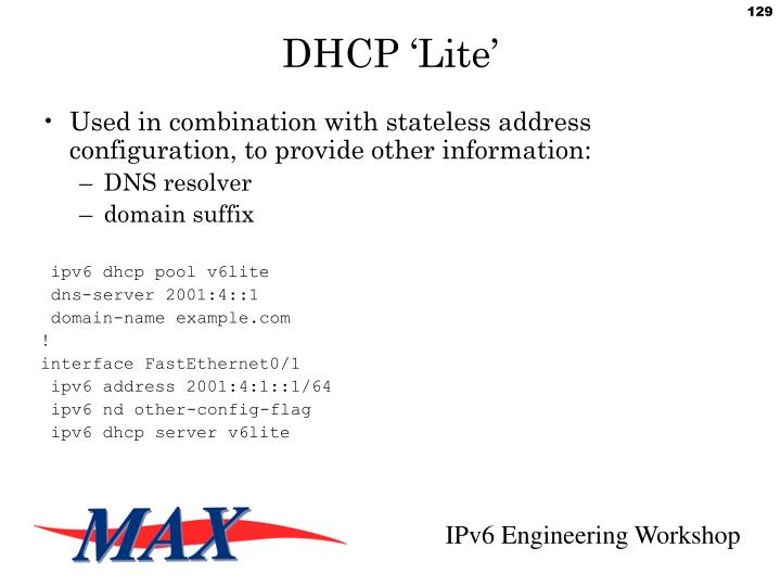 DHCP 'Lite'