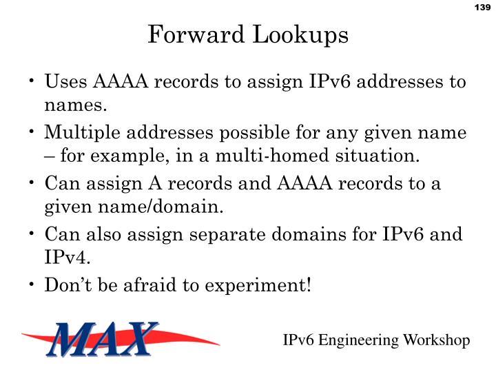 Forward Lookups
