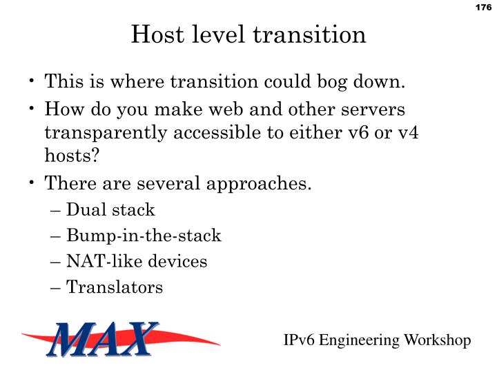 Host level transition