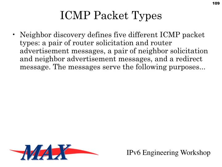 ICMP Packet Types