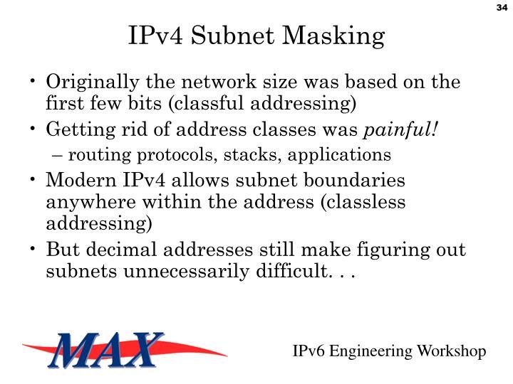 IPv4 Subnet Masking