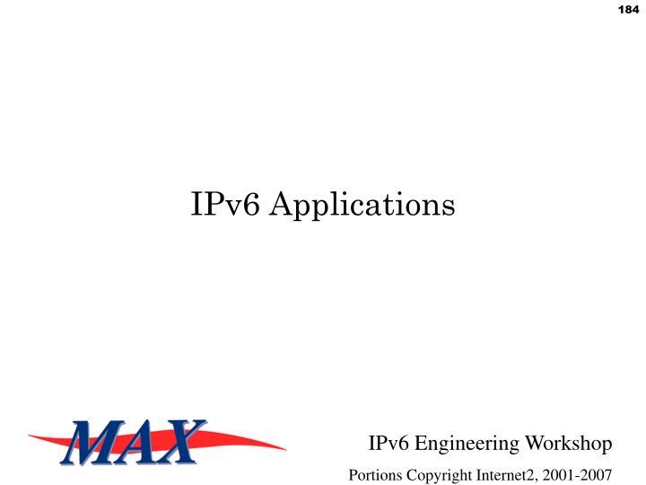 IPv6 Applications