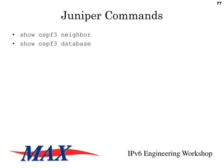 Juniper Commands