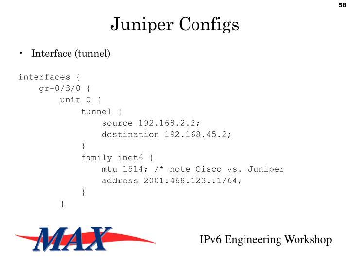 Juniper Configs