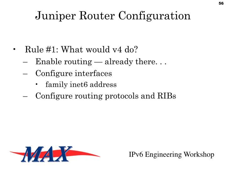 Juniper Router Configuration