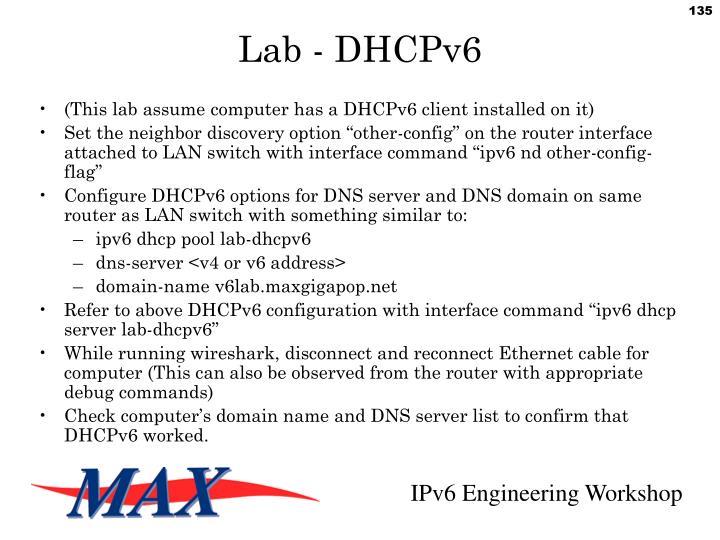 Lab - DHCPv6
