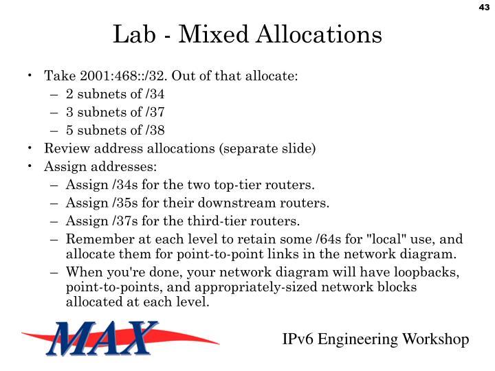 Lab - Mixed