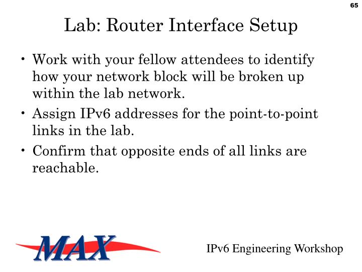 Lab: Router Interface Setup