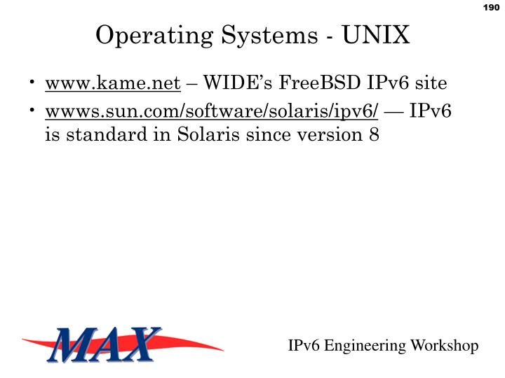 Operating Systems - UNIX