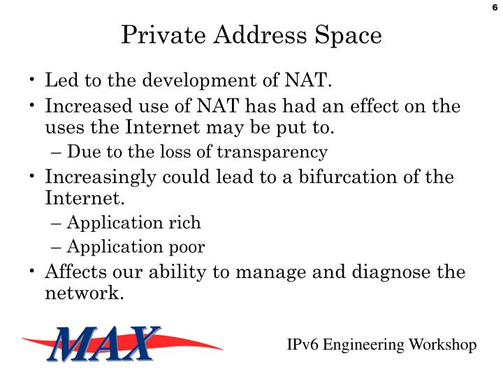 Private Address Space