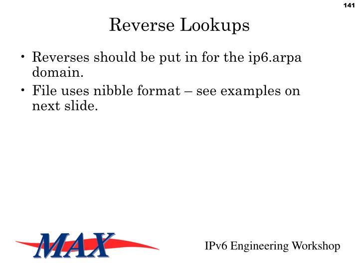 Reverse Lookups
