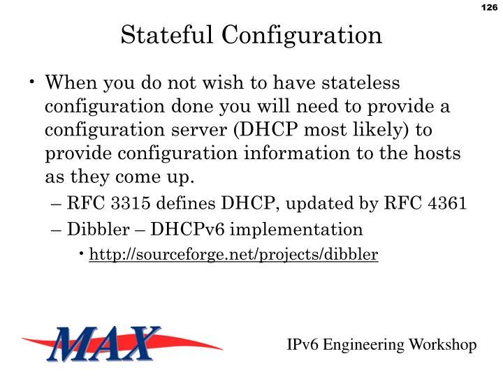 Stateful Configuration