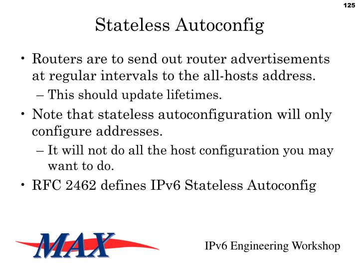 Stateless Autoconfig
