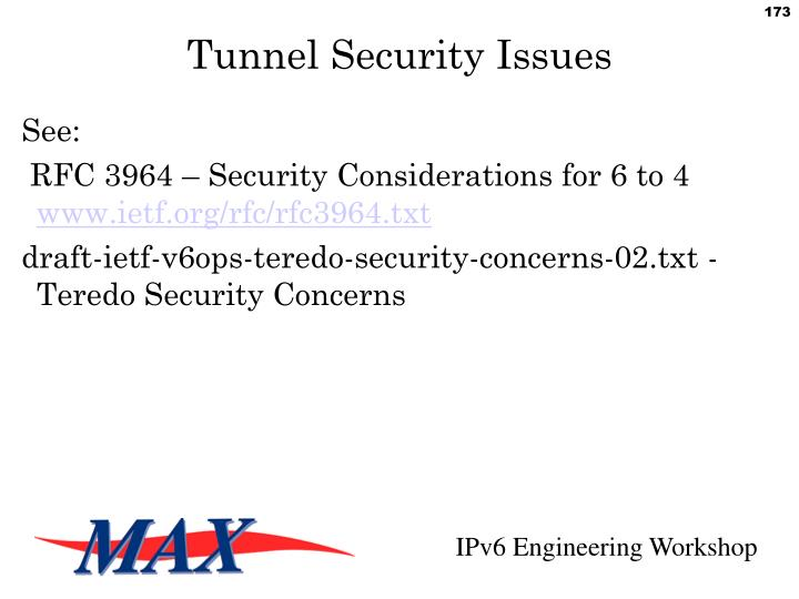 Tunnel Security Issues