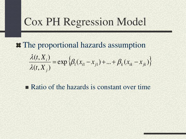 Cox PH Regression Model