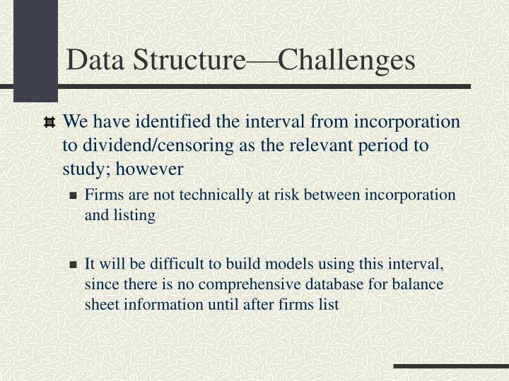 Data Structure—Challenges
