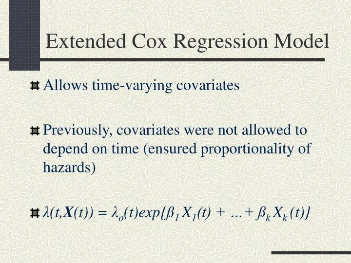 Extended Cox Regression Model