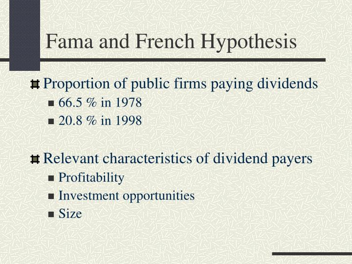 Fama and French Hypothesis