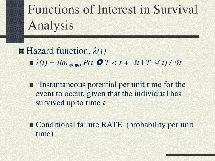 Functions of Interest in Survival Analysis