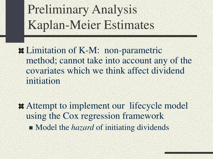 Preliminary Analysis