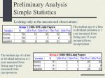 preliminary analysis simple statistics1