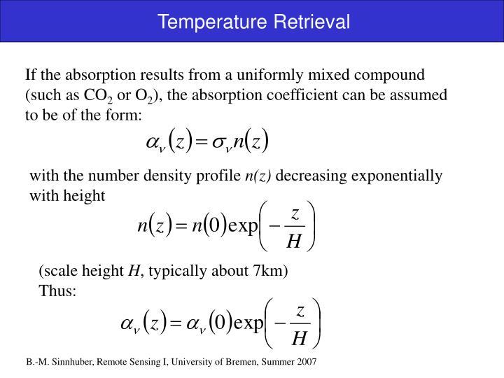 Temperature Retrieval