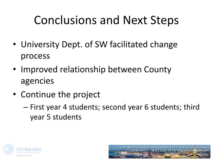 Conclusions and Next Steps