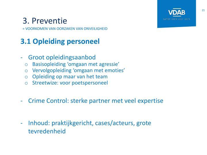 3. Preventie