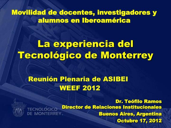 Movilidad de docentes, investigadores y alumnos en Iberoamérica