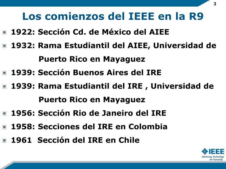 Los comienzos del IEEE en la R9