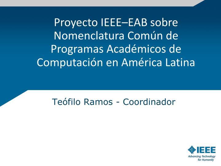 Proyecto IEEE–EAB