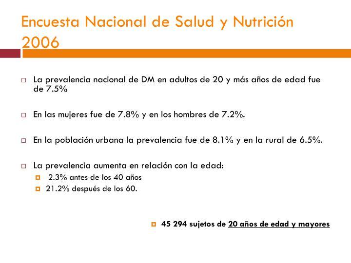 Encuesta Nacional de Salud y Nutrición 2006