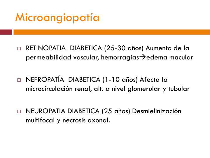 Microangiopatía