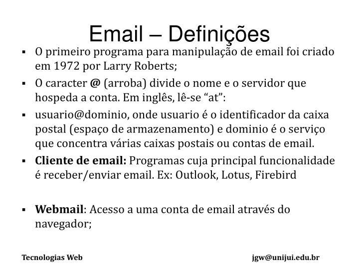 Email – Definições