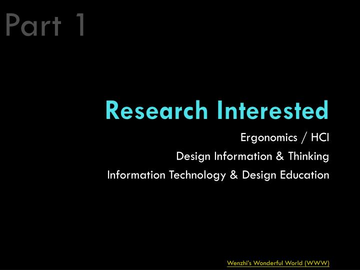 Research interested