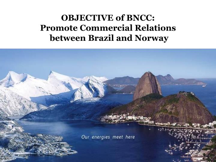 Objective of bncc promote commercial relations between brazil and norway