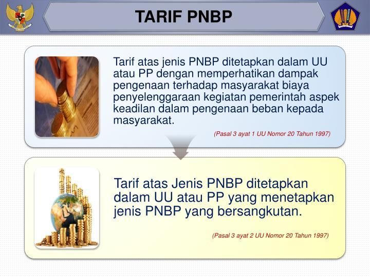 TARIF PNBP