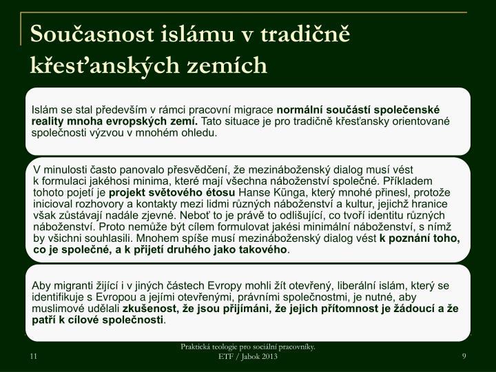 Současnost islámu v tradičně křesťanských zemích