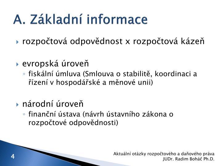A. Základní informace