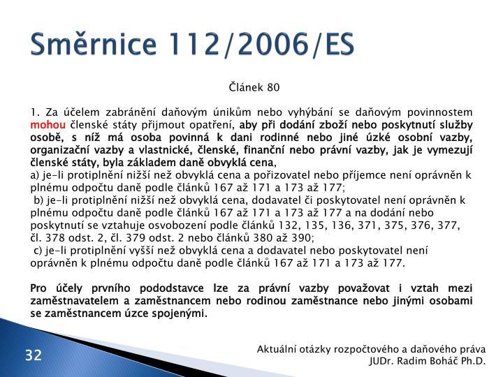 Směrnice 112/2006/ES