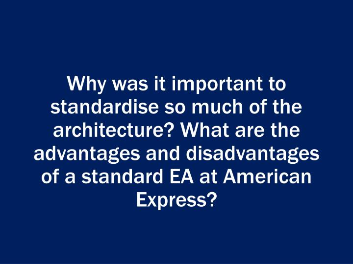enterprise architecture at american express Home resources  articles  enterprise architecture works best as a roadmap  the answer to this one has everything to do with the nature of an enterprise,.